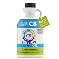 Premium 100% C8 Keto MCT oil Sourced from Coconut Oil, 32 oz, Custom easy pour Bottle...