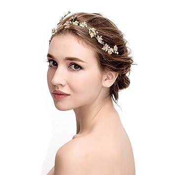 Awei mujer cintas para el pelo novia diademas para bodas para boda fiestas  oros tocados para b161c06fbec
