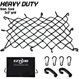 "EZYKOO [Upgrade] Bungee Cargo Net Bungee Cord 47"" x 36"" Heavy Duty Truck Bed Net Auto Roof Tie-Down Net with 14 Hooks"