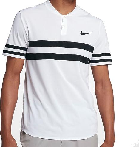 Nike - Polo de Tenis para Hombre, diseño de Rayas, XS, Blanco ...