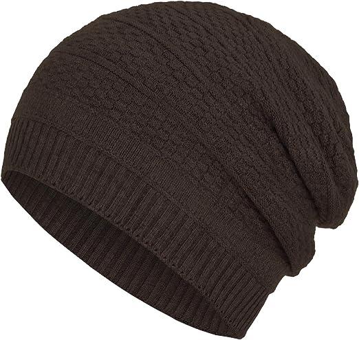 Faera Winterm/ütze warm gef/ütterte Winter-M/ütze Fleece-Futter Winter Strick-M/ütze Beanie-M/ütze Damen Herren One-Size