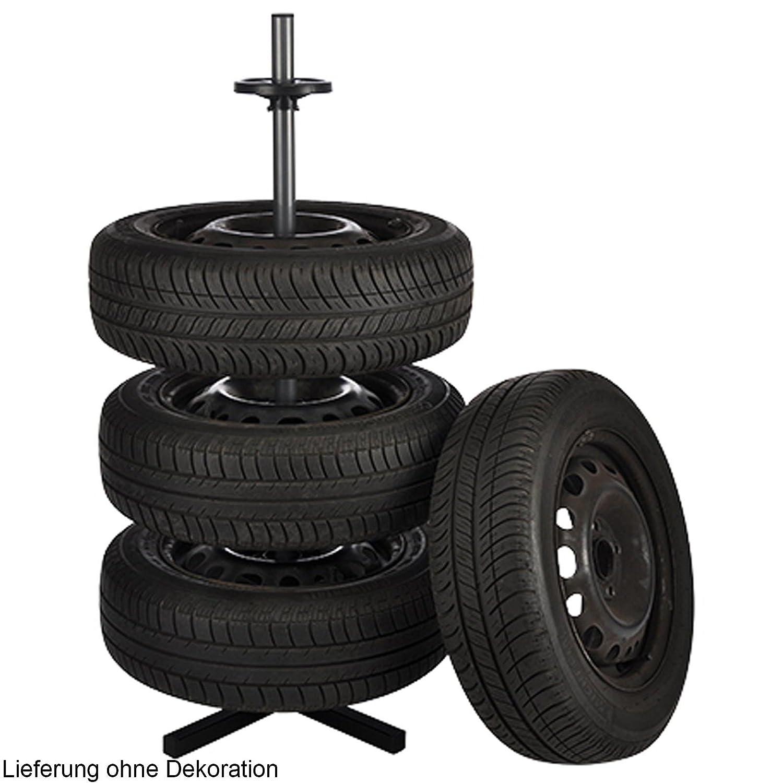 Felgenbaum Reifenständer Felgenständer Stahl für 4 Räder Vierbeinstandfuß Haushalt International