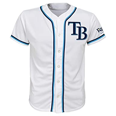 size 40 b62ae 35e76 Amazon.com: Tampa Bay Rays White Youth Team Apparel Home ...