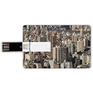 16GB Forma de tarjeta de crédito de unidades flash USB Estados ...