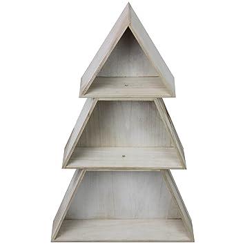 Holzregale Baumarkt holzregal weihnachtsbaum h74cm naturfarben holzbox schaukasten