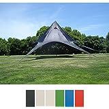 CLP Carpa en Forma Estrellada para el Jardín I Carpa de Eventos con 10 Metros de Diámetro I Carpa de Jardín con un Área Cubierta de 15 m² Aprox. I Color: Negro