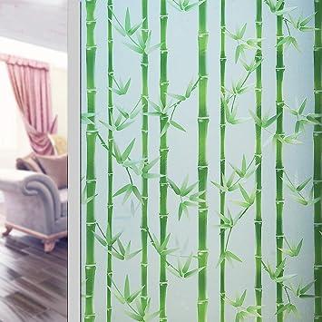 Asdfgh Bambus Statische Klarsichtfolie Fensterfolie Sichtschutz