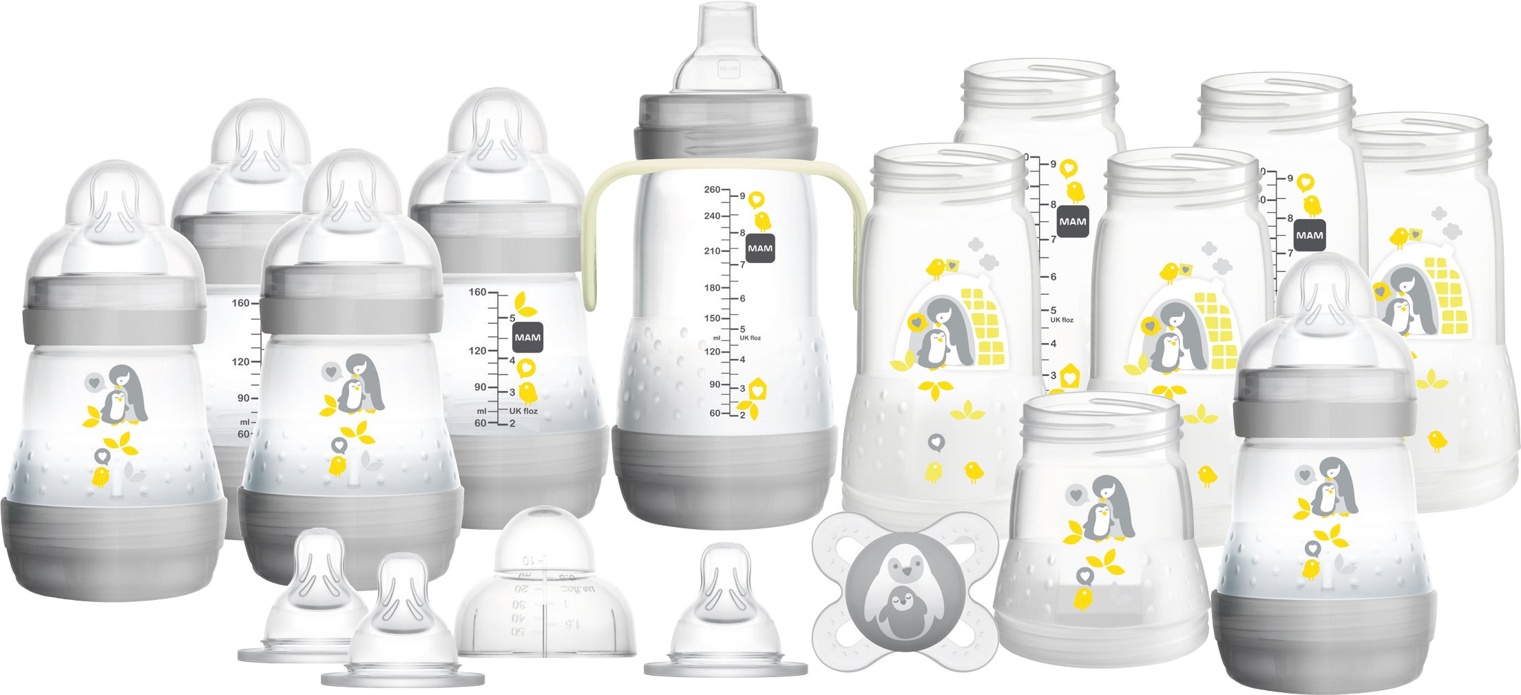 MAM Easy Start Self Sterilising Anti-Colic Bottle Starter Set - Large 17 Pieces Set