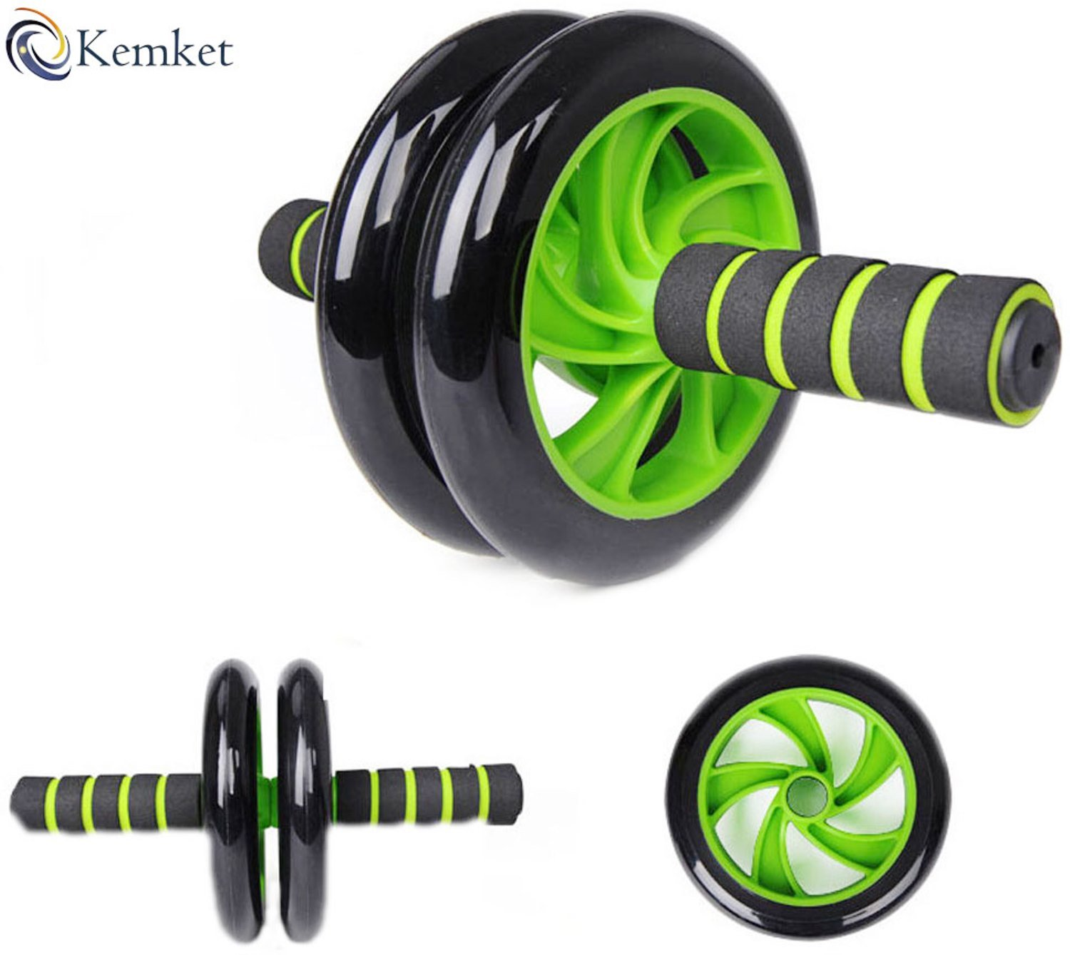 and Tone Your Abs Kemket Abdominal Exercise Roller Wheel