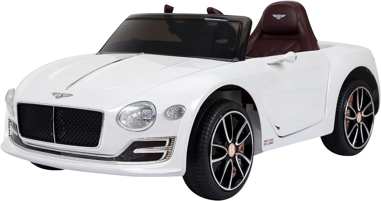 HOMCOM Coche Eléctrico para Niño 3+ años Bentley con Mando a Distancia MP3 USB Luces y Sonidos Apertura de Puerta 108x60x43cm Carga 30kg