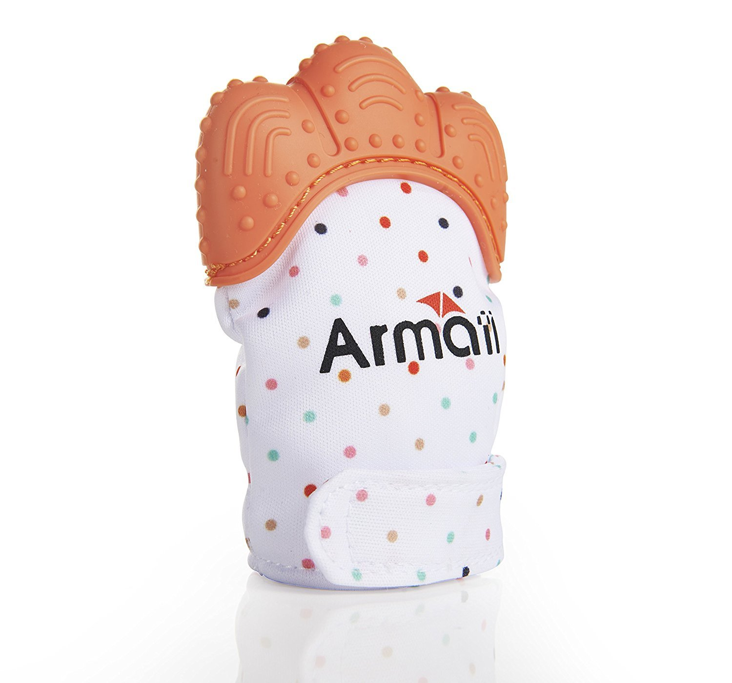 Teether Mitten by Armati, Prevent Scratches for Teething One Pack - Orange