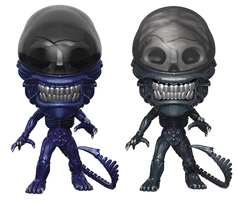 Funko Pop! Movies: Alien 40th - Xenomorph Regular and Xenomorph Blue  Specialty Series - Lot of 2