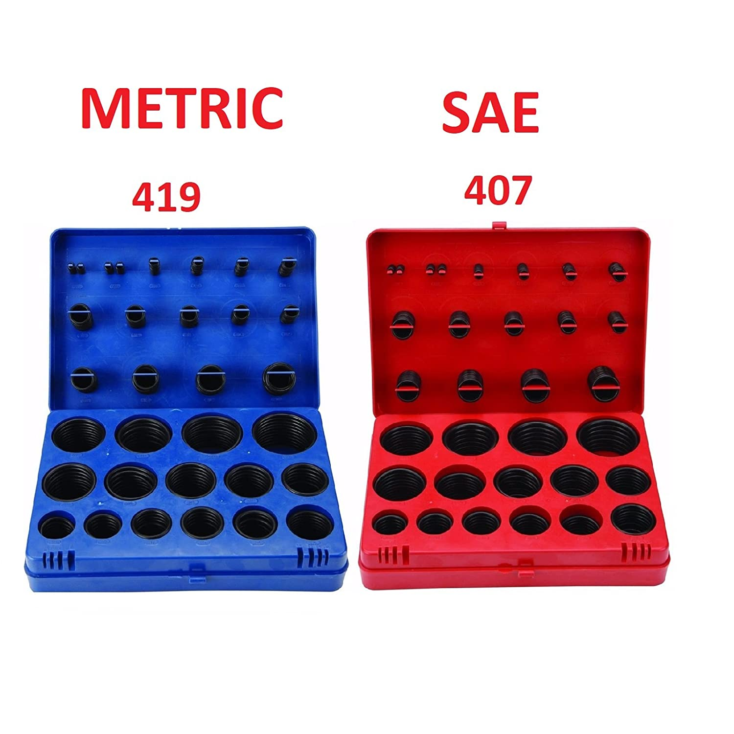 Mechanic,Repairs Automotive SAE Metric O Ring Kit Orings Assortment Kit 495 Pcs with O Ring Pick /& Installation Tools Rubber O-Ring Washer Gasket for Professional Plumbing