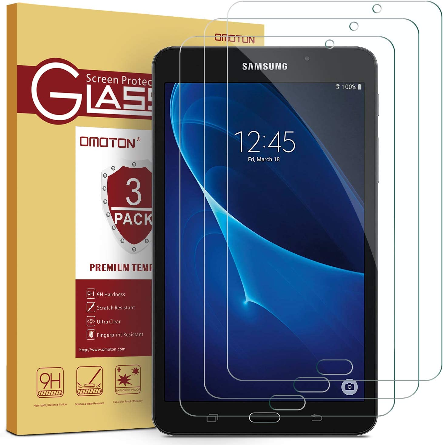 Samsung Galaxy Tab A 7.0 Screen Protector Glossy Clear//Anti-Glare