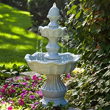 Amazoncom Welcome Garden Pineapple Tiered Outdoor Fountain