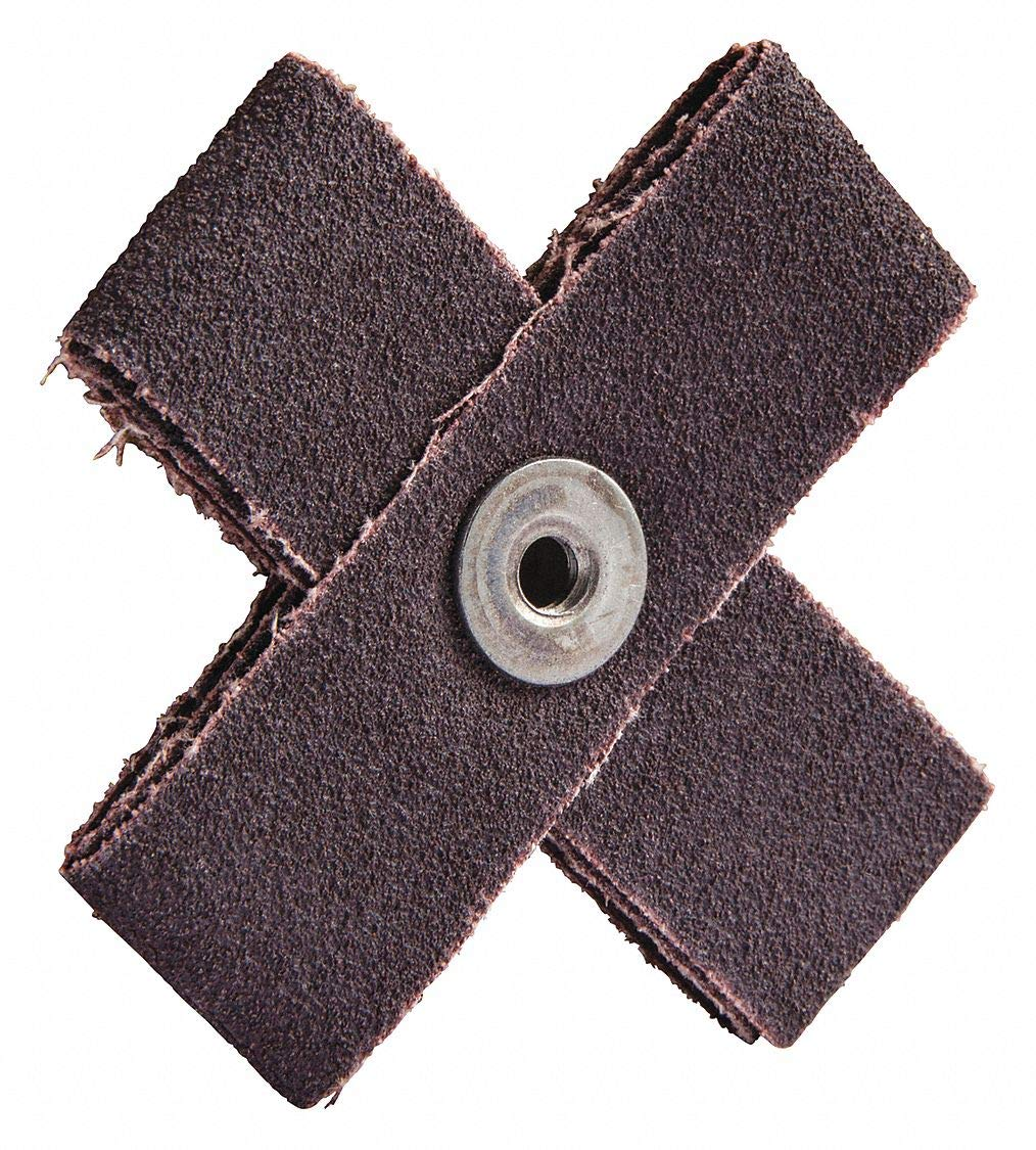 3' Abrasive Cross Pad, Course Grade - pack of 5