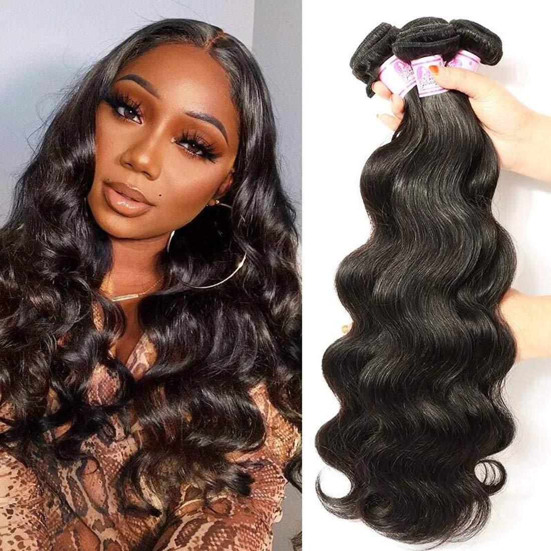BF Hair gift Brazilian Body Wave 3 100% Un 24inch Deluxe 22 Bundles 20