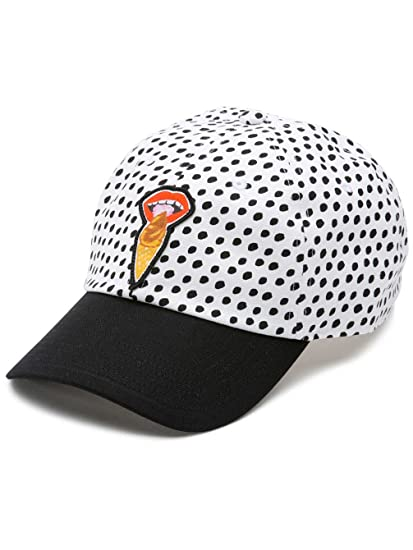 03e17fb2884 Vans Off The Wall Women s Kendra Court Side Baseball Hat Cap - I Scream at  Amazon Men s Clothing store