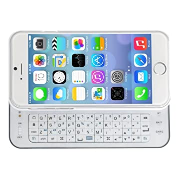 f9ca6f648b2 Amazon.com: Premium Ultra-thin Slide-out Wireless Bluetooth Keyboard Cover  Case with Backlight for iPhone 6 and iPhone 6s 4.7 Inch -White: Electronics