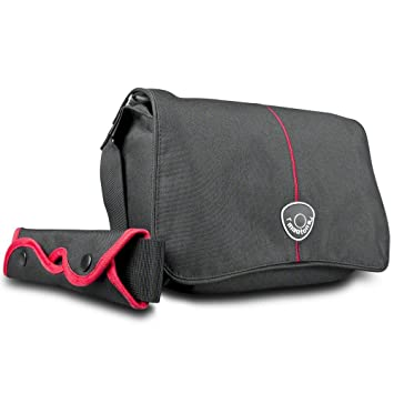 Mantona Cool Bag - Bolsa para cámaras réflex negro y rojo ...