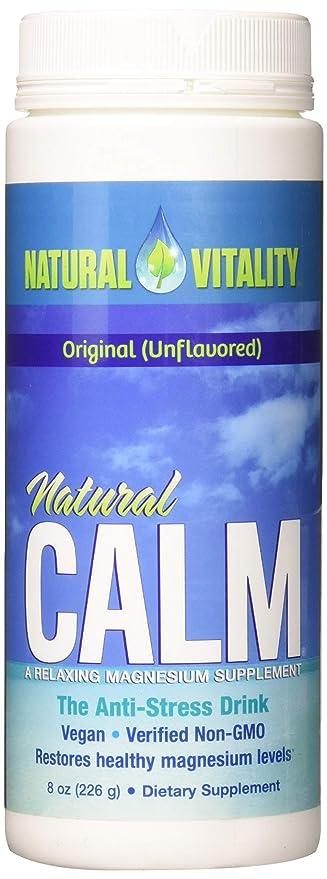 Polvo de magnesio Natural Calm de calidad superior, 0,23 l