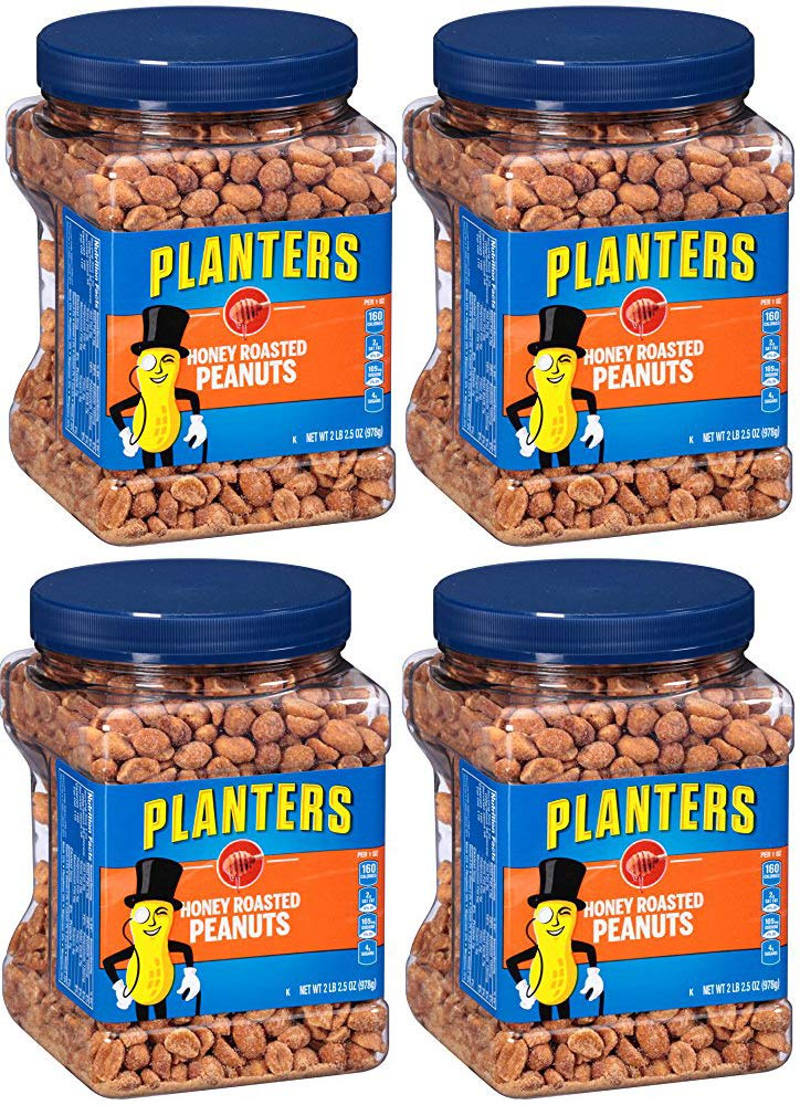 Planters Honey Roasted Peanuts, 34.5 Ounce, 8 Tubs by Planters (Image #1)