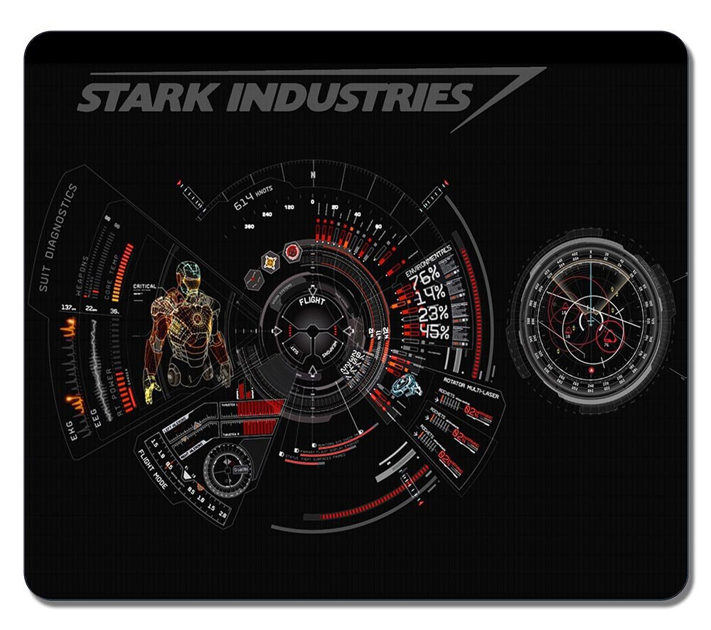 Customized Fashion Style Textured Surface Water Resistent Mousepad Iron Man Stark Industries Hologram VR High quality non-slip Gaming Mouse Pads