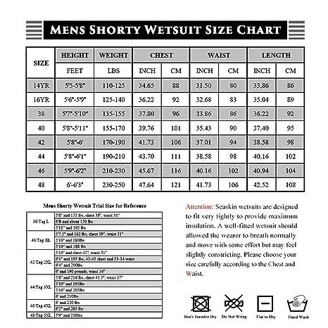 Seaskin Traje de Neopreno Corto de 3 mm para Hombre, con ...