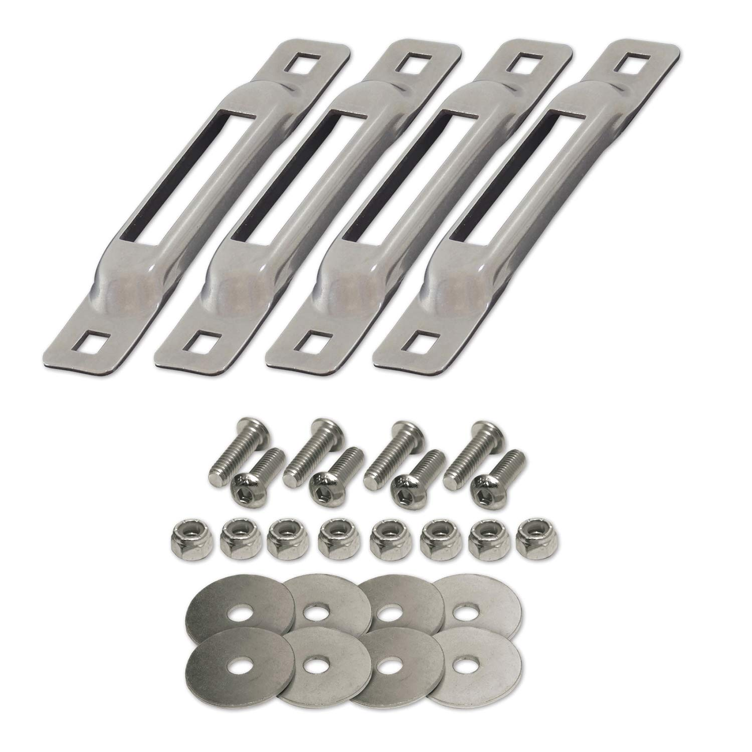 SNAPLOCS ZINC 4 Pack with Fasteners E-Track Single Strap Anchors