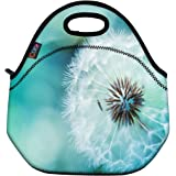 ICOLOR Dandelion Insulated Neoprene Lunch Bag Tote Handbag lunchbox Food Container Gourmet Tote Cooler warm Pouch For School work Office