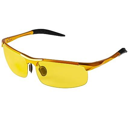 Protección UV Visión nocturna de los hombres gafas de sol de ...