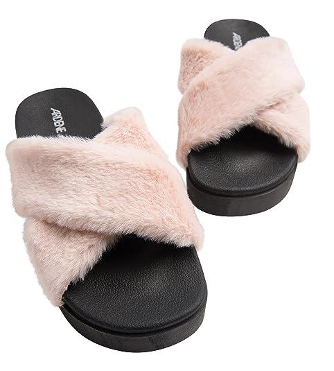 845539975d67 Ardene - Women s - Slides - Platform Fur Slides 9 -(8A-FW00101) Pink ...