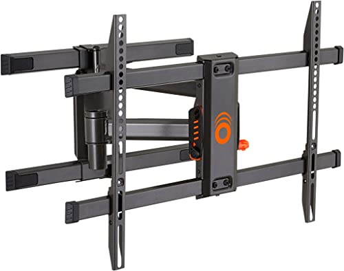 ECHOGEAR Full Motion Articulating TV Wall Mount Bracket for TVs Up to 78 – Smooth Extention, Swivel, Tilt – Wall Template for Easy Install – Centers Levels After Mounting Plus Hides Your Cables