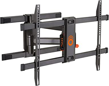 """ECHOGEAR Full Motion Articulating TV Wall Mount Bracket for TVs Up to 78"""" - Smooth Extention, Swivel, Tilt - Wall Template for Easy Install - Centers & Levels After Mounting Plus Hides Your Cables"""
