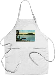 product image for Saratoga Springs, New York - View of Shadow Bay and Snake Hill from Saratoga Lake (Cotton/Polyester Chef's Apron)