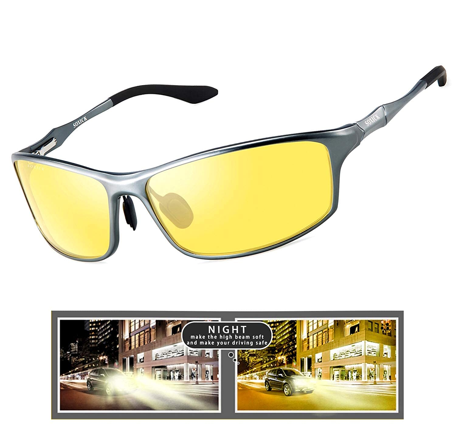 Night Vision Glasses for Driving, Polarized Anti Glare HD Night Driving Glasses Classic Style