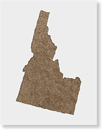 Reusable Painting Drawing Stencil Idaho Stencil State Stencil