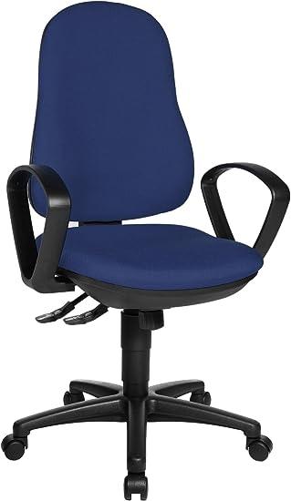 Bürostuhl Schreibtischstuhl Drehstuhl Topstar Support SY chrom blau B-Ware