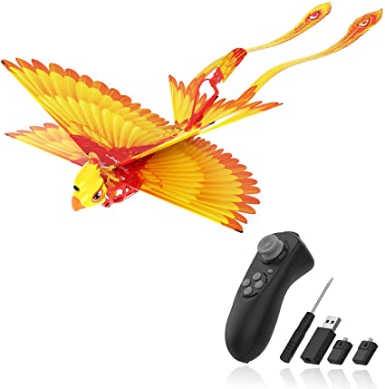Amazon Com Hanvon Go Go Bird Flying Toy Mini Rc Flying Bird Helicopters Bionic Flying Bird Mini Drone Tech Toy Remote Control Flying Toys Easy Indoor Outdoor Small Flying Toys For Kids Boys And Girls Yellow Toys Games