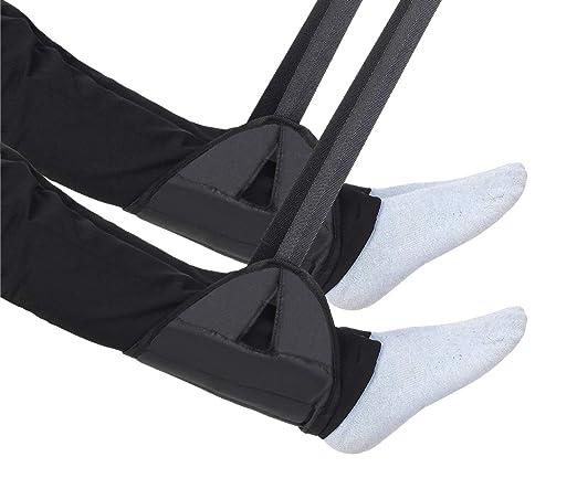 kricson 2 Pack portátil viajes avión pie Resto vuelo altura ajustable reposapiés avión accesorios reposapiés hamaca para debajo del escritorio, coche, ...