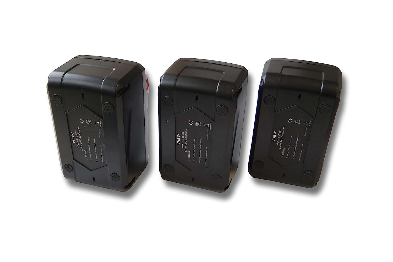 vhbw Sparset 3x Li-Ion Akku 4000mAh (28V) für Werkzeuge Würth 28V wie 4932352732.