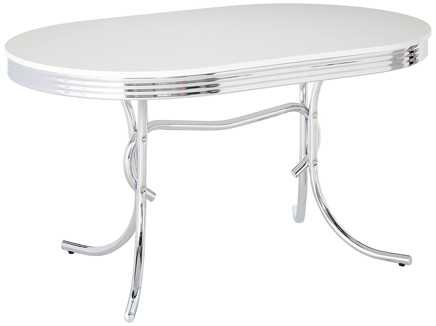 Amazon.com - Coaster 50\'s Retro Nostalgic Style Oval Dining Table ...