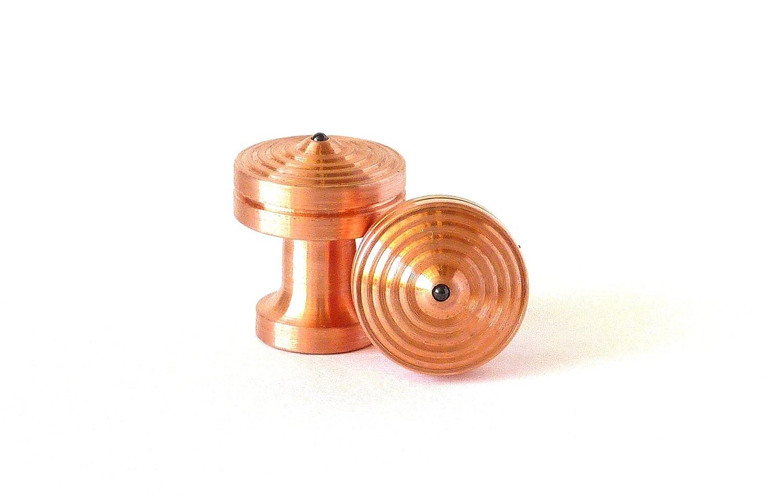 CUFFLINK SPINNING TOPS - COPPER - Hand Machined Cufflinks - MADE ...