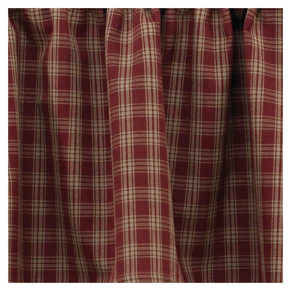Sturbridge Country Wine Panel Curtains 72x63