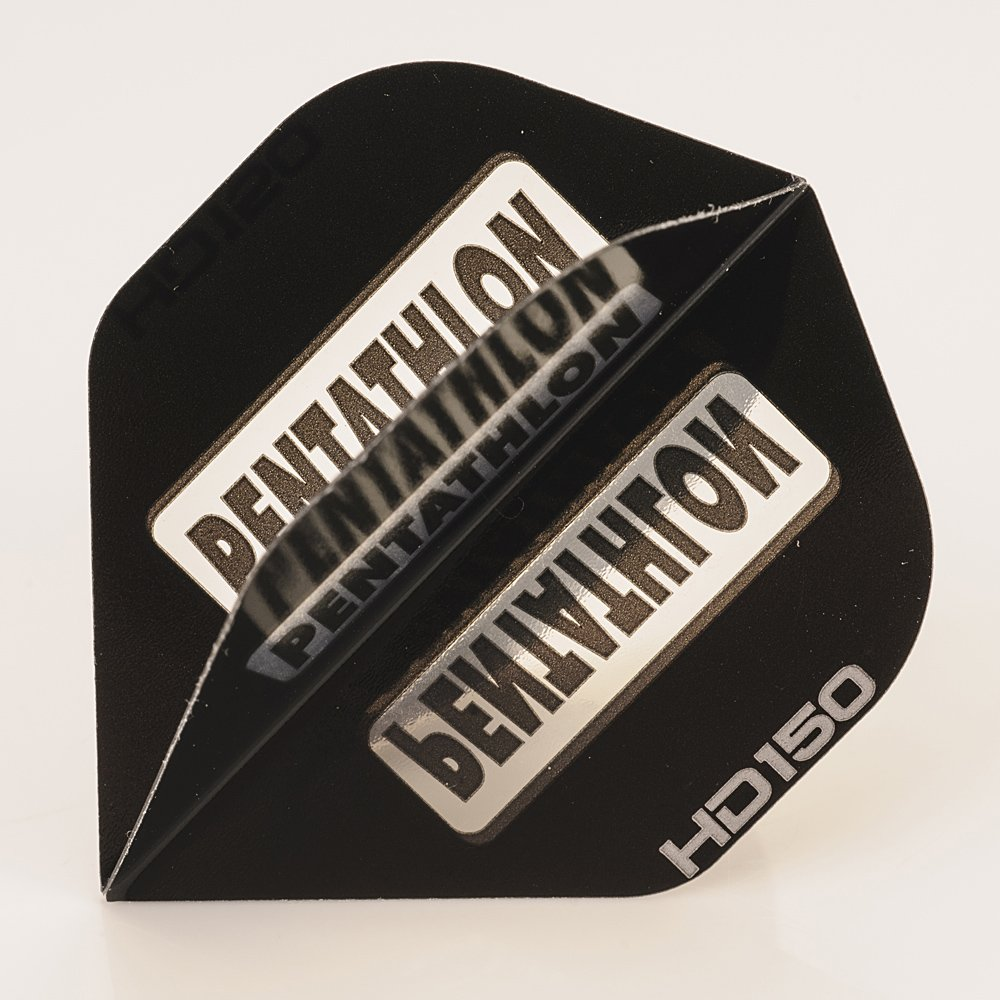 5 x Sets of Pentathlon Black Super Tough HD150 Dart Flights, Standard by PerfectDarts