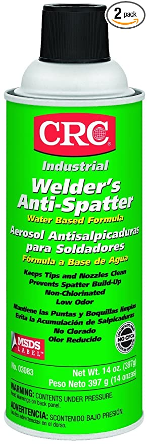 CRC Water Based Welders Anti Spatter Spray Coating, 14 oz Aerosol Can, Milky White
