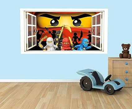 Autocollant Mural Fenêtre 3D LEGO Stickers muraux STICKER 42