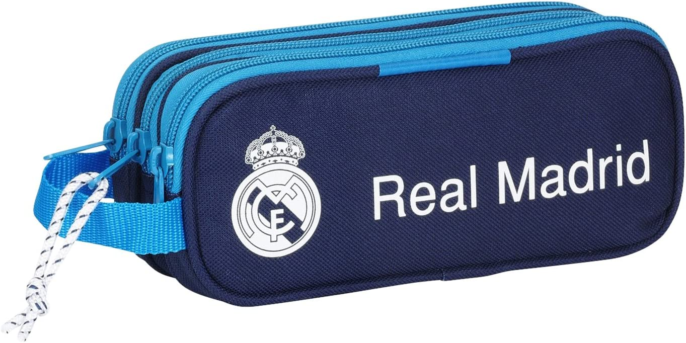 Real Madrid - Portatodo Triple, Color Azul (SAFTA 811657635): Amazon.es: Equipaje