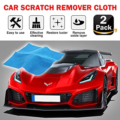 Multipurpose Scratch Remover Cloth [2 Pack], 2020 Upgraded Car Paint Scratch Repair - Nano Car Scratch Repair Kit for Repairing Light Paint Scratches Remover Scuffs on Surface and Strong Decontamin: Automotive