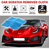 Multipurpose Scratch Remover Cloth [2 Pack], 2020 Upgraded Car Paint Scratch Repair - Nano Car Scratch Repair Kit for Repairing Light Paint Scratches Remover Scuffs on Surface and Strong Decontamin